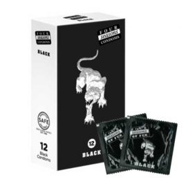 Four Seasons Black Condom 54mm